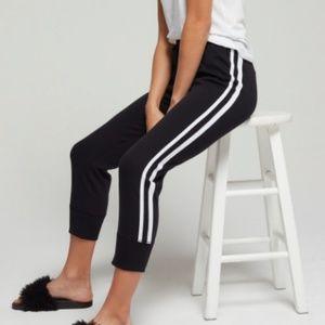 RAGDOLL Crop Stripe Track Pants